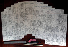 50% done with my new PAPERCUT 2 comic book by sonicblaster59