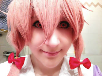 Yuno Mirai Nikki Cosplay Face by Rika-strife