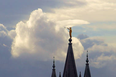 On Top of the Salt Lake Temple by Ericseye