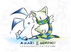 Akari and Ankoku by Lumaga