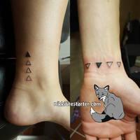 Sibling Tattoos by NikkiFirestarter