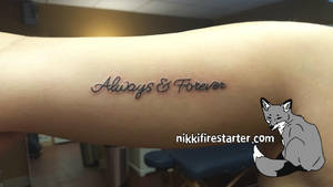 Always and Forever Tattoo by NikkiFirestarter