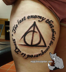 Deathly Hallows Tattoo by NikkiFirestarter