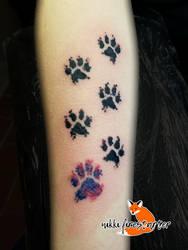 Puppy Prints Tattoo by NikkiFirestarter