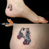 Roller Derby Skate Tattoo by NikkiFirestarter