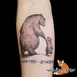 Father and Son Memorial Tattoo by NikkiFirestarter
