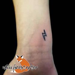 Lightning Bolt Tattoo by NikkiFirestarter