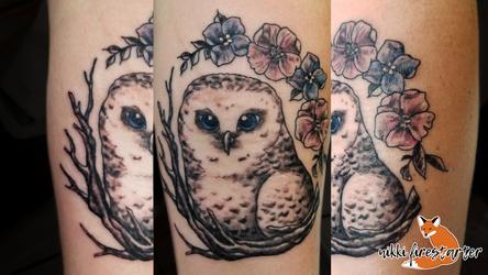 Pretty Owl Tattoo by NikkiFirestarter