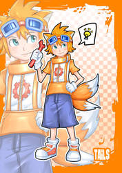 tails gijinka by addixtion21