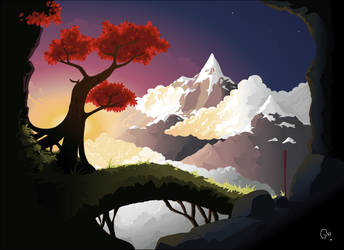 Libertas: Mountains of Mist by Greeneye-s