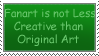 All Art can be Creative Stamp by racingwolf