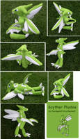 Stormblade-Scyther Plushie by racingwolf