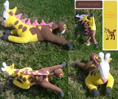 Girafarig Plushie by racingwolf