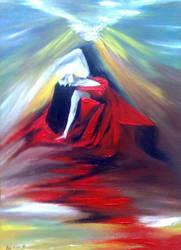 Eruption (lava dance) by Areej-Art