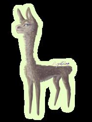 Just a Llama by Maystrine