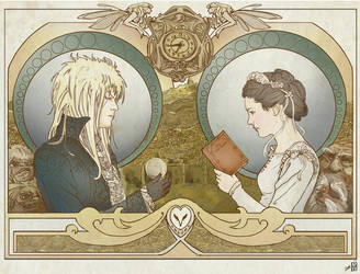Nouveau Labyrinth poster by The-Labyrinth-Club