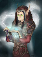 C: blood elf mage by Deesketches