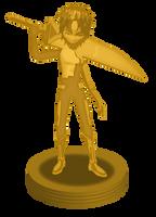Gold William trophy by DlynK