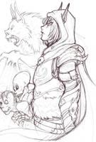Death Knight - Blood Elf by RenonsPrints