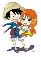LuffyNami Chibi 2 by Namuzza94