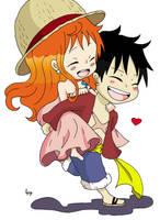 LuffyNami Chibi4 The story always repeats itself by Namuzza94