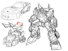 Transformers Hotrod Earth Mode by EJ-Su