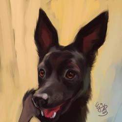 Taiwan Dog Painting by EJ-Su