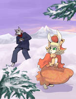 Snow Ball fight. by Warlord-of-Noodles