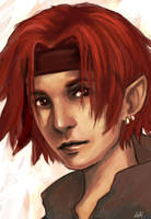 Red haired elf by Leti03