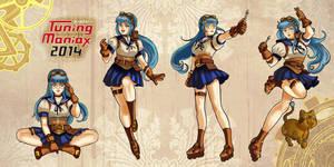 tunning maniax mascot character by audreymolinatti
