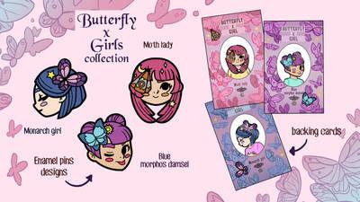 Butterfly x girls Kickstarter by audreymolinatti