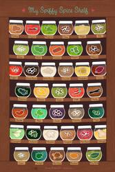 My Spiffy Spice Shelf by Majnouna