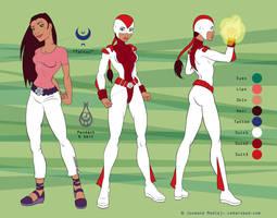 Malaak character sheet by Majnouna