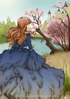 Princess in garden by citrus-shood