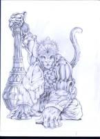 hanuman by wolfscream