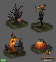 Halloween surroundings by Gimaldinov