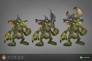 Siege.  Goblin marauders by Gimaldinov