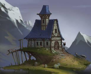 April of houses #1 by Gimaldinov