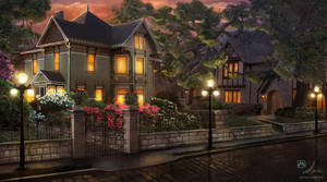 The Evening Street by samaposebe