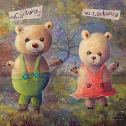 Mother/Daughter Art. The Corduroy Bears by samaposebe