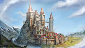 Caernar Castle by babeskull16
