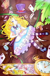 Fanart- Alice in wonderland by unii-bunny