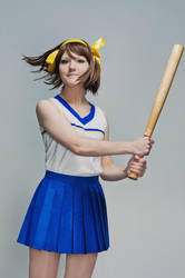 Haruhi and baseball by MollyMetaphora