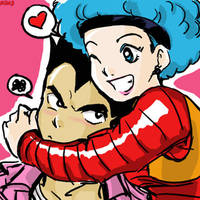 Bulma and Vegeta by hyperdol