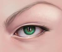 My process of painting an eye by RaSen