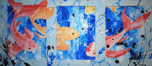 Goldfish pond by Kudnalla