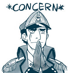 Concern Meme - Warhammer 40K Commissar Edition by Buttery-Commissar