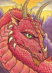 Red Dragon Head by TabLynn
