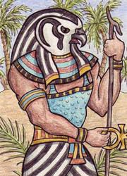 Egyptian God Ra by TabLynn