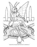 Goth Fairy Coloring Page by TabLynn